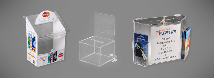 acrylic-drop-box-supplier